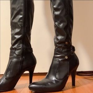 Knee High Vegan Leather Boots
